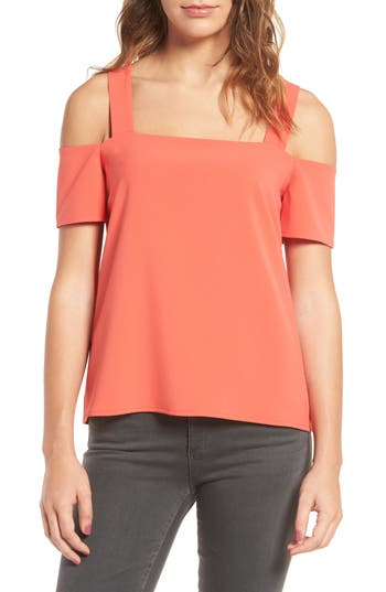 Women's Cooper & Ella Ava Cold Shoulder Top, Size Small - Orange