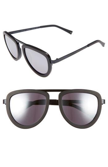 Women's Kendall + Kylie 53Mm Aviator Sunglasses - Snow Leopard/ Matte Black