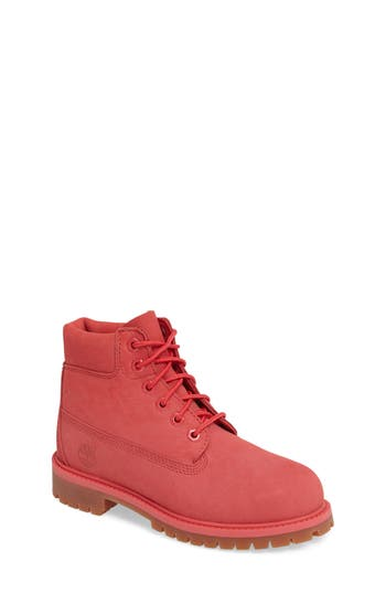 Girl's Timberland 6-Inch Premium Waterproof Boot, Size 1 M - Pink