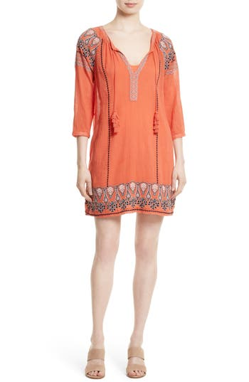 Women's Joie Nieva Embroidered Cotton Shift Dress