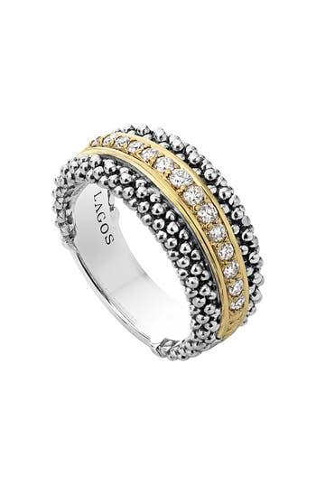 Women's Lagos Diamonds & Caviar Ring