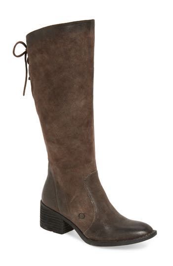 B?rn Felicia Knee High Boot, Regular Calf- Grey