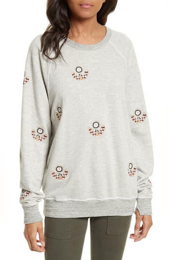 The Great  THE COLLEGE EMBROIDERED SWEATSHIRT