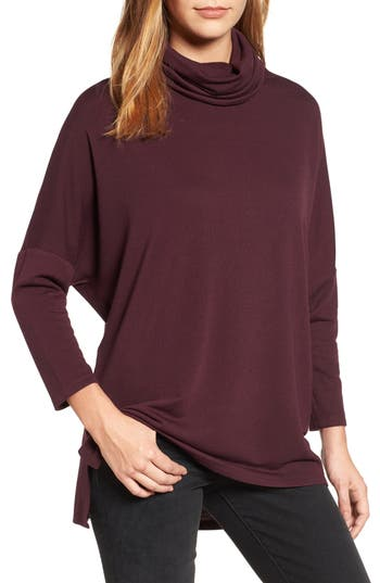 Women's Caslon High/low Tunic, Size Large - Burgundy