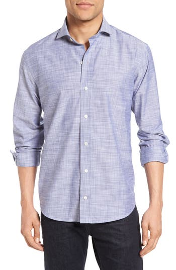Men's Ledbury The Mcdaniel Classic Fit Chambray Sport Shirt