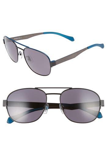 Men's Boss 58Mm Polarized Navigator Sunglasses - Matte Blue/ Smoke