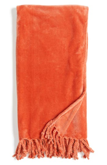 Kennebunk Home 'Bliss' Plush Throw, Size One Size - Orange