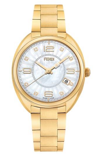 Women's Fendi Momento Diamond Bracelet Watch, 34Mm