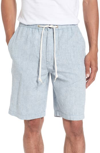 Quiksilver Waterman Collection Bahiadays Linen Blend Shorts, Blue