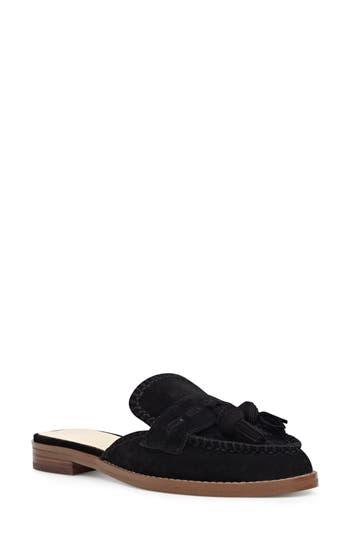 Women's Nine West Vesuvio Tassel Loafer Mule, Size 8 M - Black -  029013858934