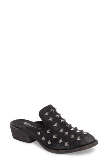 Matisse Charlize Studded Loafer Mule- Black