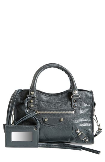 Balenciaga Classic Mini City Leather Tote - Grey