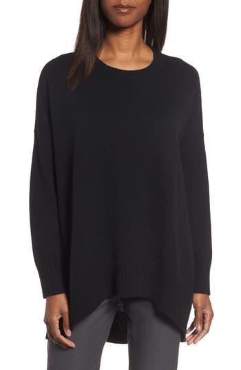 Women's Eileen Fisher Cashmere & Wool Blend Oversize Sweater, Size XX-Small/X-Small - Black