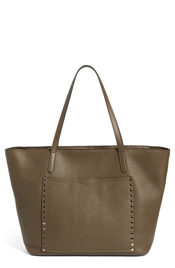 Rebecca Minkoff Unlined Front Pocket Leather Tote - Green