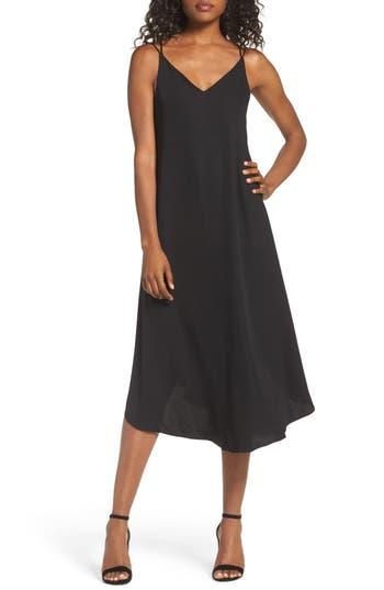 Women's Nsr Midi Slipdress, Size Small - Black