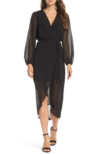 Women's Bardot Chiffon Wrap Dress