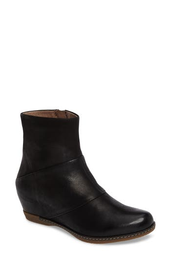 Dansko Lettie Wedge Bootie - Black