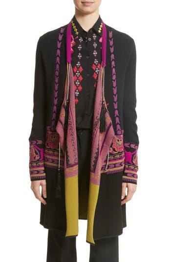 Women's Etro Tassel Wool Blend Cardigan