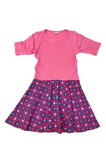 Girl's Chooze Spree Mixed Print Dress, Size XXS (4) - Pink