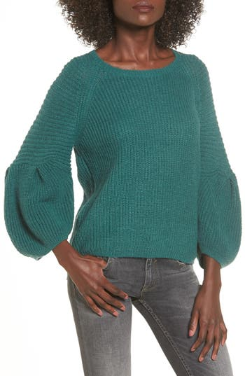 Women's Leith Bubble Sleeve Sweater, Size X-Small - Green