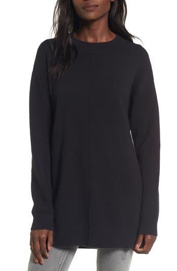 Women's Bp. Seam Front Tunic Sweater, Size XX-Small - Black