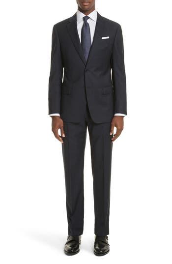 Men's Armani Collezioni G-Line Trim Fit Windowpane Wool Suit