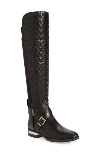 Vince Camuto Patira Over The Knee Boot, Regular Calf- Black