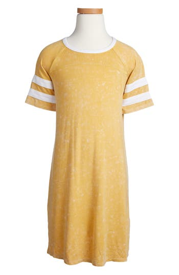 Girl's Love, Fire Mineral Wash T-Shirt Dress