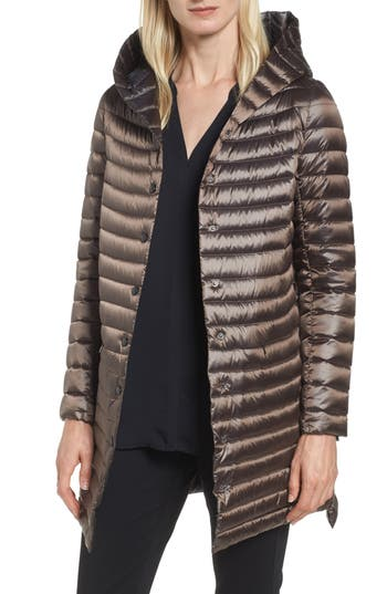 Sam Edelman Reversible Down & Feather Fill Puffer Jacket, Brown