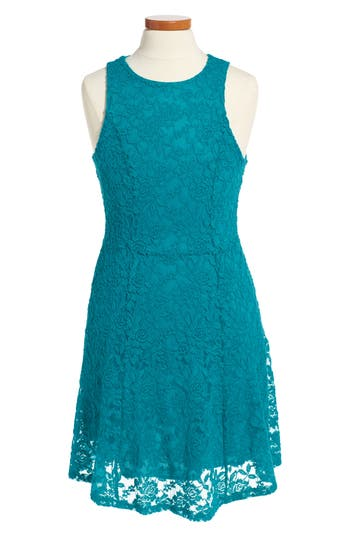 Girl's Ruby & Bloom Lace Dress