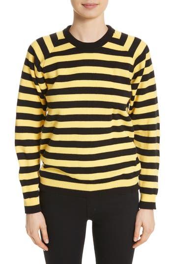 Molly Goddard Bumblebee Stripe Sweater In Black Yellow Modesens