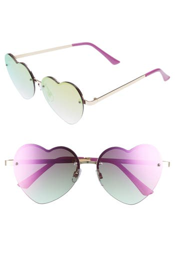 Women's Leith 58Mm Heart Sunglasses - Purple
