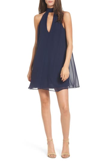 Women's Soprano Lace-Up Swing Dress, Size X-Small - Blue