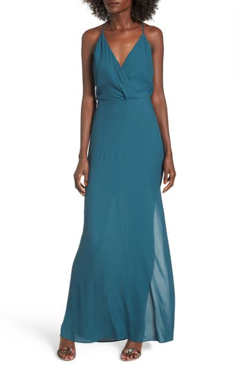 Women's Surplice Maxi Dress