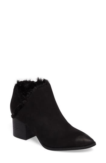 Seychelles Preview Faux Fur Lined Bootie- Black