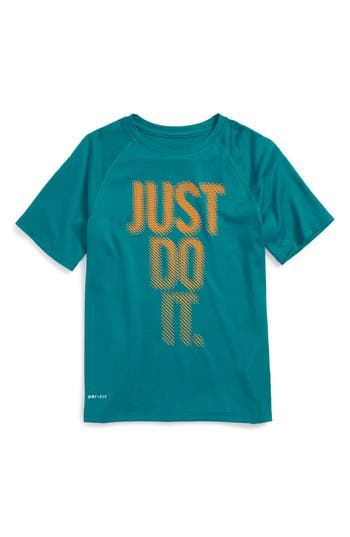 Boy's Nike Just Do It Dash Dry Graphic T-Shirt, Size S (8) - Blue