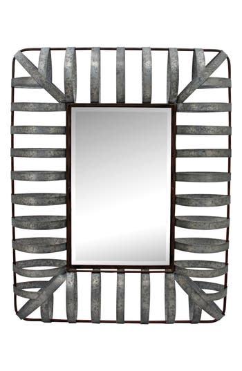 Foreside Iron Framed Mirror, Size One Size - Metallic