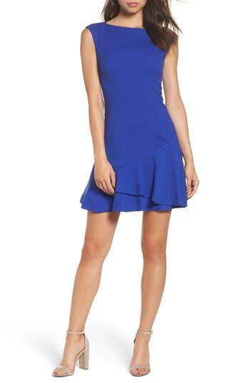 Vince Camuto Crepe Fit & Flare Dress, Blue