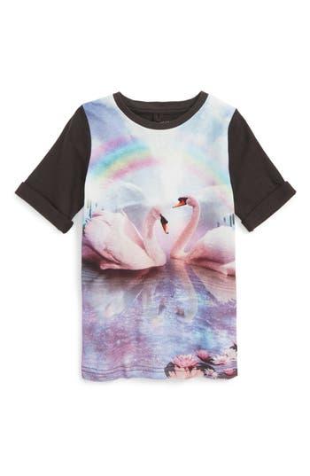 Girl's Stella Mccartney Kids Swan Graphic T-Shirt Dress