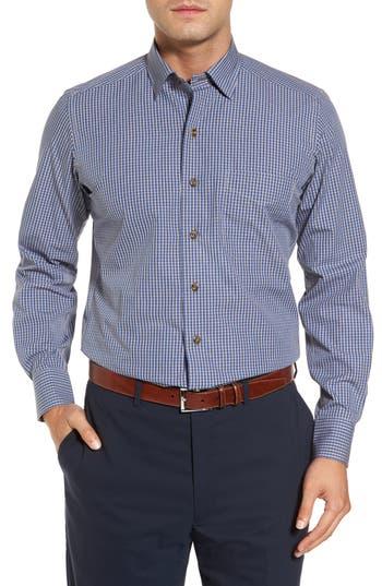 Men's David Donahue Regular Fit Check Sport Shirt