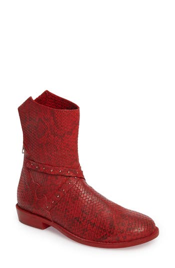Free People Alamosa Slouchy Bootie, Red