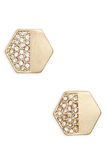 Women's Bp. Crystal Hexagon Stud Earrings