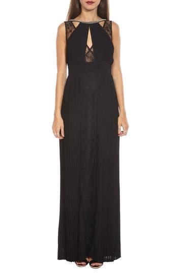 Women's Tfnc Naly Embellished Lace Trim Maxi Dress, Size X-Small - Black