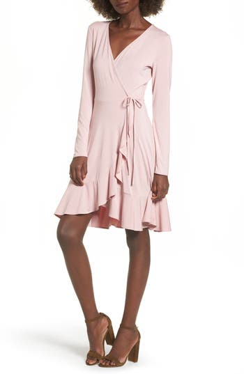 Women's Soprano Ruffle Wrap Dress, Size X-Small - Pink
