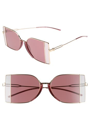 Calvin Klein 205W39Nyc 51Mm Butterfly Sunglasses - Light Gold
