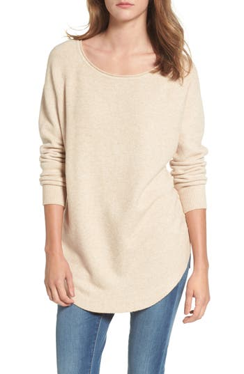 Women's Dreamers By Debut Shirttail Hem Sweater, Size X-Small - Beige
