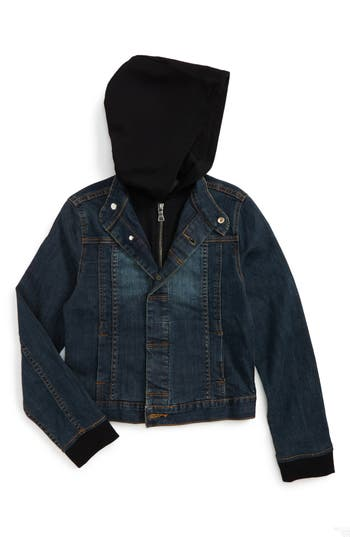 Boy's Hudson Kids Hooded Denim Jacket
