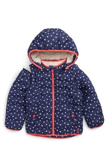 Girl's Mini Boden 2-In-1 Water Resistant Padded Jacket