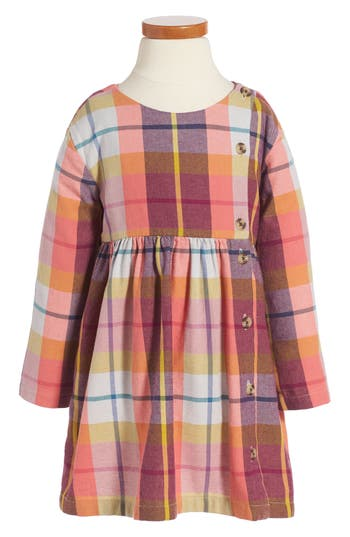 Toddler Girl's Tea Collection Plaid Flannel Dress