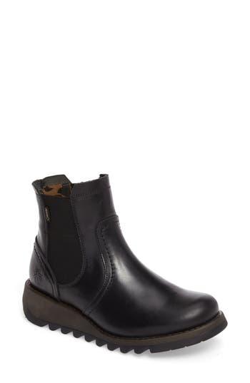 Fly London Scon Waterproof Gore-Tex Chelsea Boot - Black